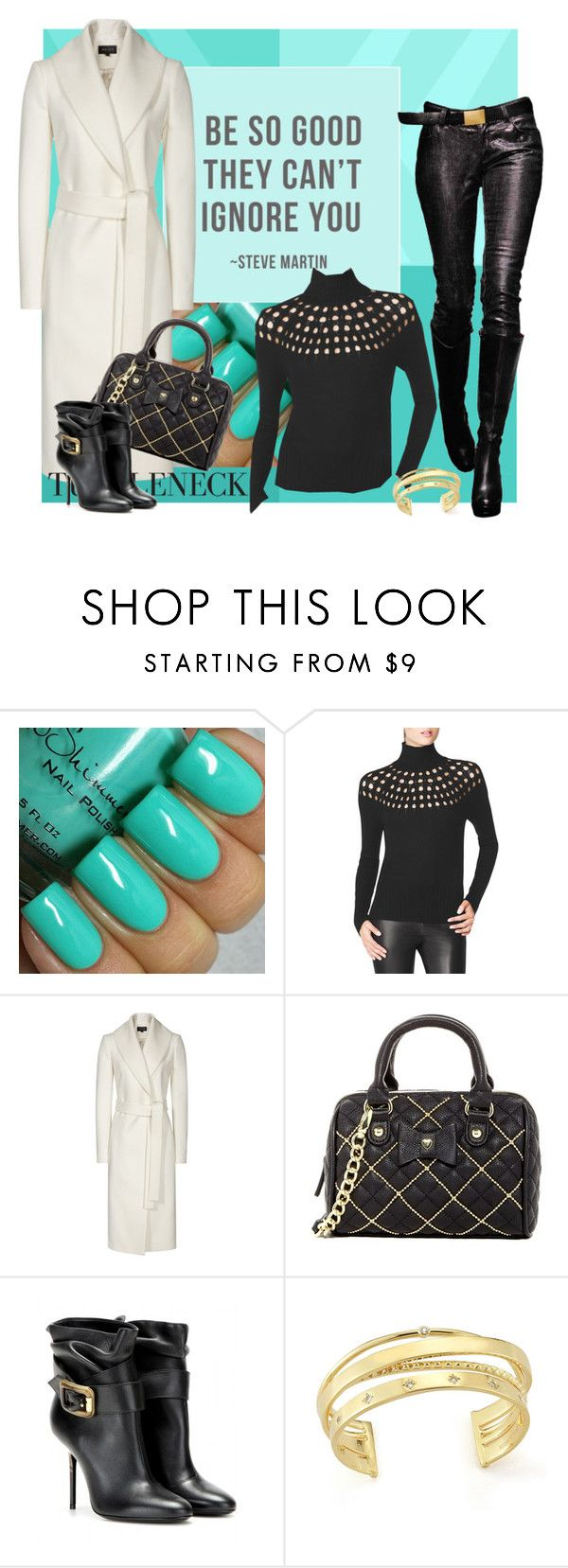 """""""cut out turtleneck sweater"""" by sheryl-lee ❤ liked on Polyvore featuring Tamara Mellon, Reiss, Betsey Johnson, Burberry and Elizabeth and James"""