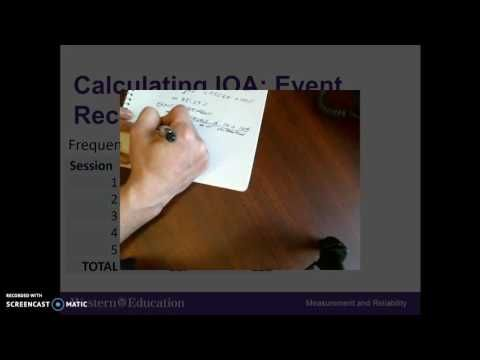 Calculating Interobserver Agreement Youtube Aba Pinterest