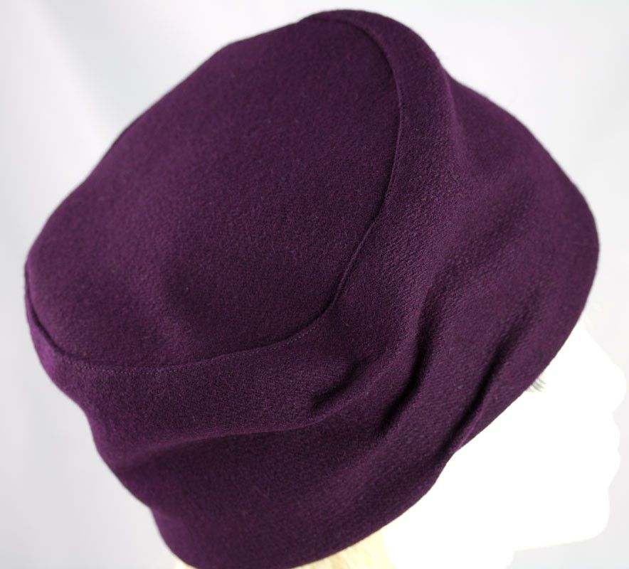 f44453535 Plum Purple Wool Hat for Women | Warm Winter Pillbox Cloche | Fall ...