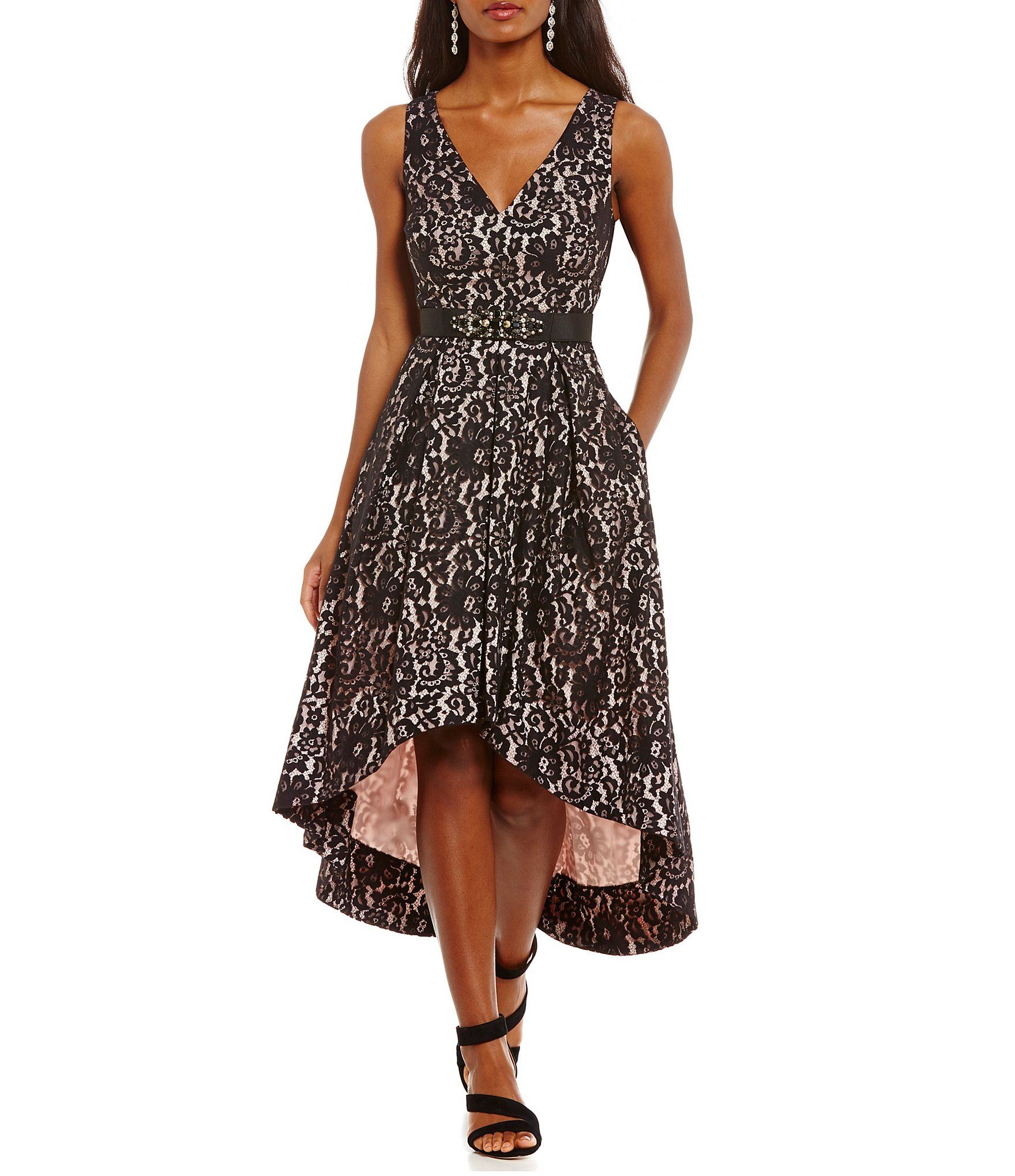 b92290970e6 Shop for Eliza J V-Neck Lace High Low Dress at Dillards.com. Visit Dillards.com  to find clothing