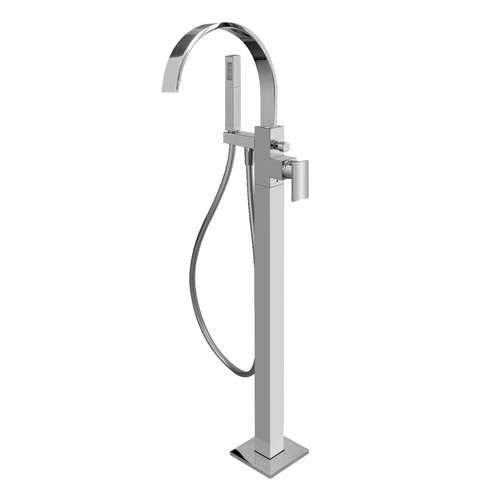 Sade Floor Mounted Tub Filler With Handheld Shower Head