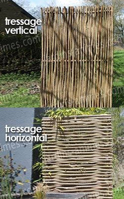 Panneau noisetier tressage horizontal ou vertical | jardin ...