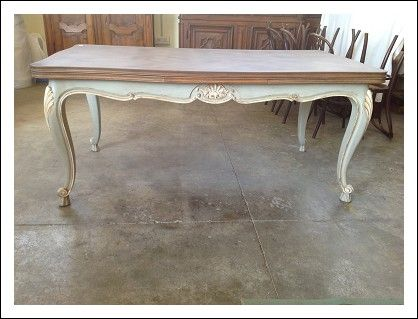 Tavolo provenzale allungabile shabby chic effetto antico | Antiques ...