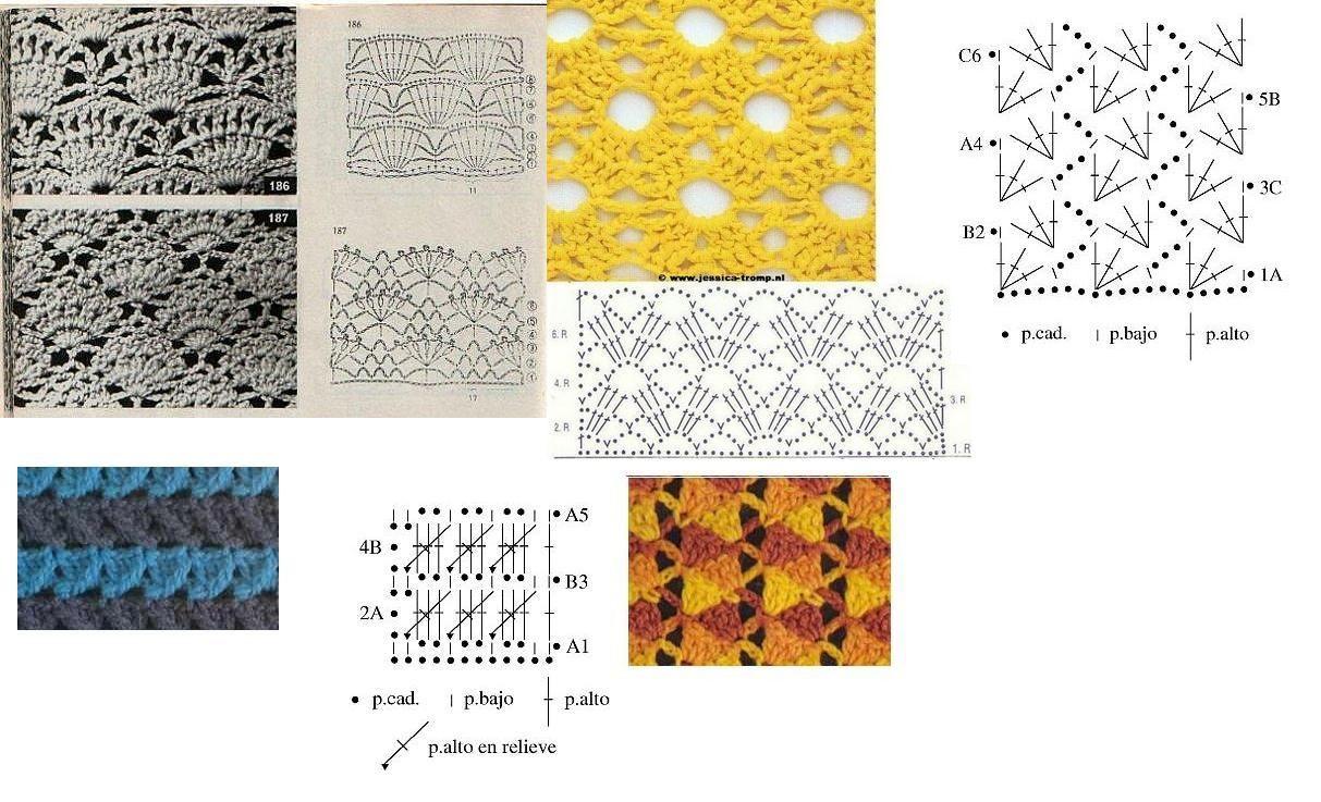 puntadas de crochet para bufandas - Google Search | crochet ...