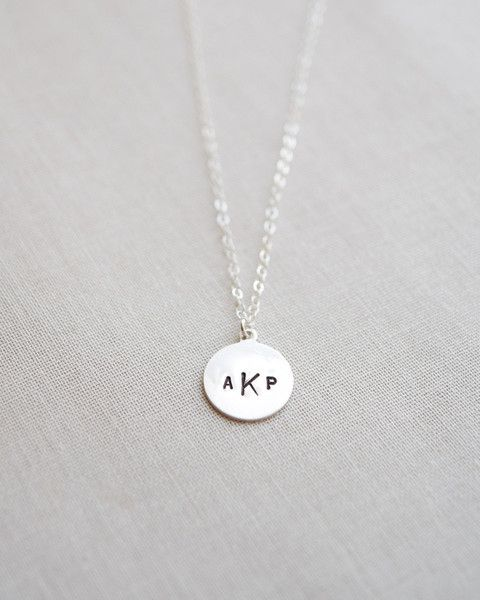 988cdd4120ea4 Monogram Tag Necklace - available in sterling silver. Customize with ...