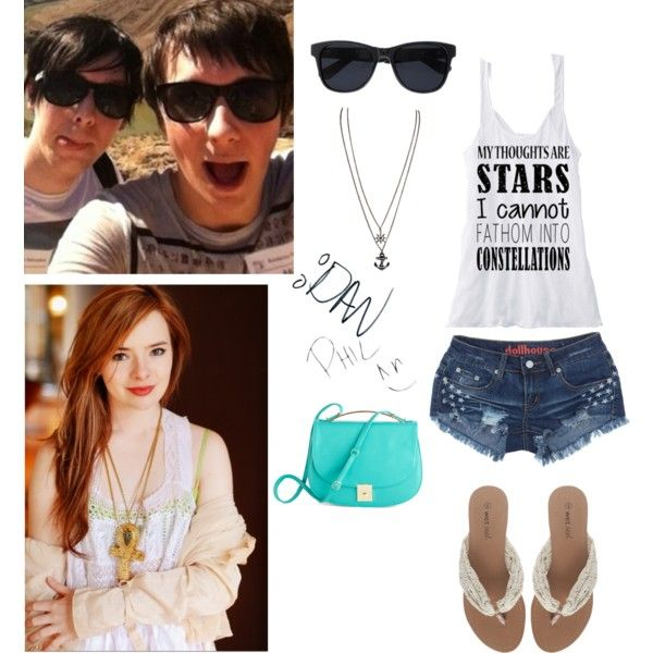 """Spending the day with Dan and Phil:)"" by panic-forever on Polyvore"
