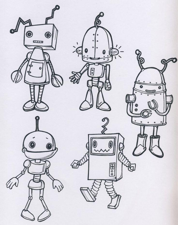 Výsledek obrázku pro robots sketches | drawing | Pinterest | Dibujos ...