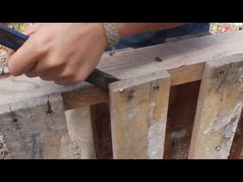 Como Desmontar Un Pallet Tarimas De Madera Tablas De Madera Tarimas