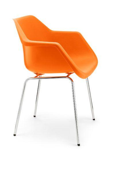 Robin day chair orange