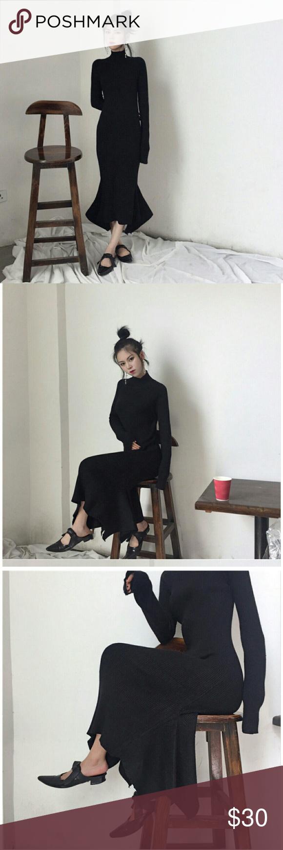 Small long sleeve ruffle dress ruffle dress korean style and ruffles