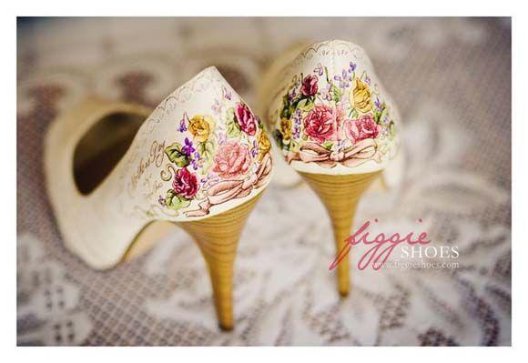 Pintados PersonalizadosFiggie A Y Para Novia Mano Zapatos Shoes doCxBe