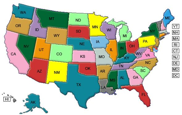 Can An Attorney Licensed In Alabama Represent Immigration Clients - Us map by schools