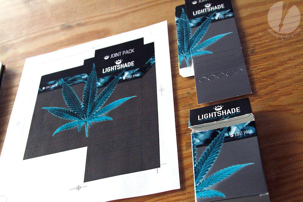dfine Branding | Lightshade Joint Box from http://dfinebranding.com/portfolio_page/custom-marijuana-joint-boxes/