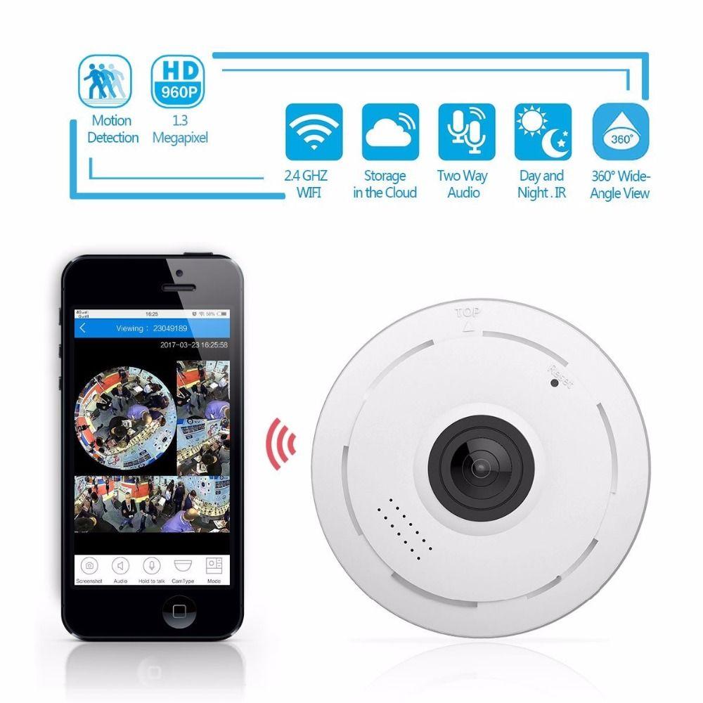 HD 1080P WIFI Panoramic CCTV IP Camera Home Security 2-Way Audio Night Vision US