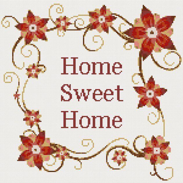 Home sweet home cross stitch | Cross stitch | Pinterest ...