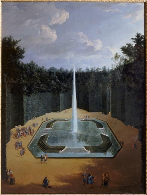 Pierre denis martin vue du bosquet de la fontaine de l - Le jardin de versailles histoire des arts ...