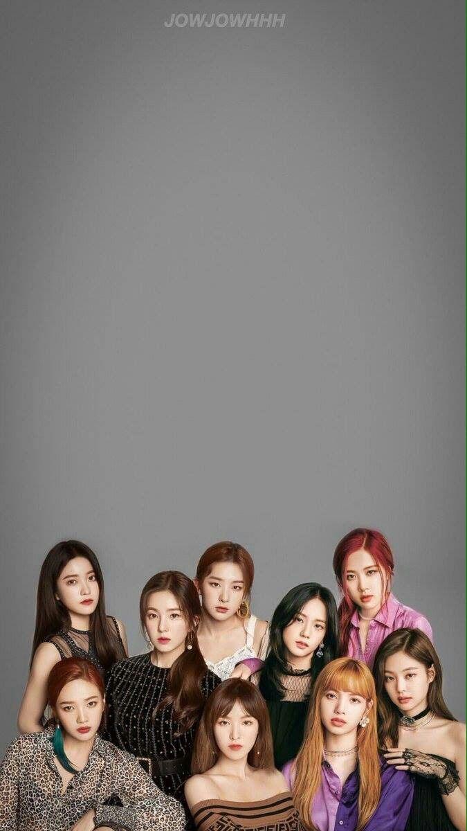 Bts Quotes Wallpaper Iphone Hd Red Velvet X Blackpink Wallpaper Lockscreen Hd Fondo De