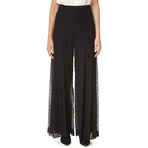 See by Chloe Wide Leg Polka Dot Trousers ($520) ❤ liked on Polyvore featuring pants