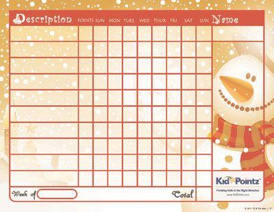 Kids Charts Christmas Theme  Those Short People I Live With
