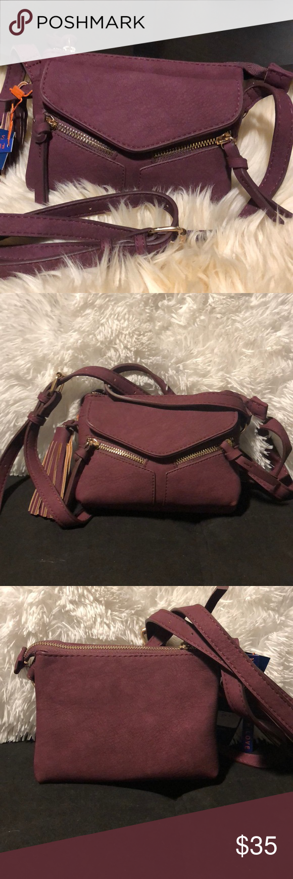f4fc3bc25745 ... Mini Leanna In Wine From free People line violet ray Faux leather Top  zip closure Shoulder ...