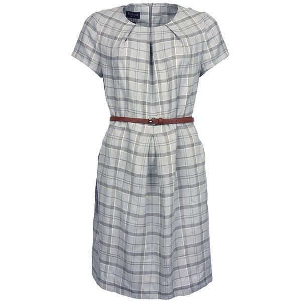 Women's Barbour Iona Dress - Grey ($185) ❤ liked on Polyvore featuring dresses, grey evening dress, linen dress, gray dress, grey cocktail dress and linen summer dresses