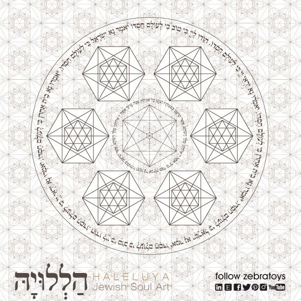 Happy Passover Seder Plate Coloring Page Metatrons Cube Matzah