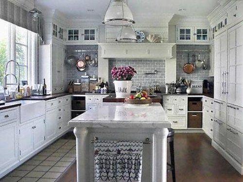 White Rustic Kitchen Cabinets rustic white kitchen | winda 7 furniture