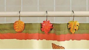 Fall Leaves Shower Hooks Leaf Curtains Curtain Hooks Curtains
