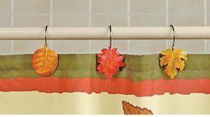 Fall Leaves Shower Hooks Leaf Curtains Curtain Hooks Shower
