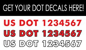 Get Your DOT Decals From Bannerscom Custom Vinyl Decals - Custom vinyl decals upload image