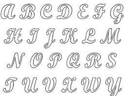 Plantilla letra cursiva