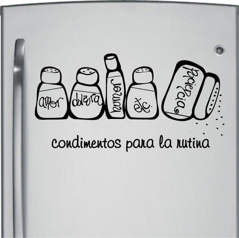Pegatina vinilo decorativo pared original condimentos for Pegatinas de vinilo