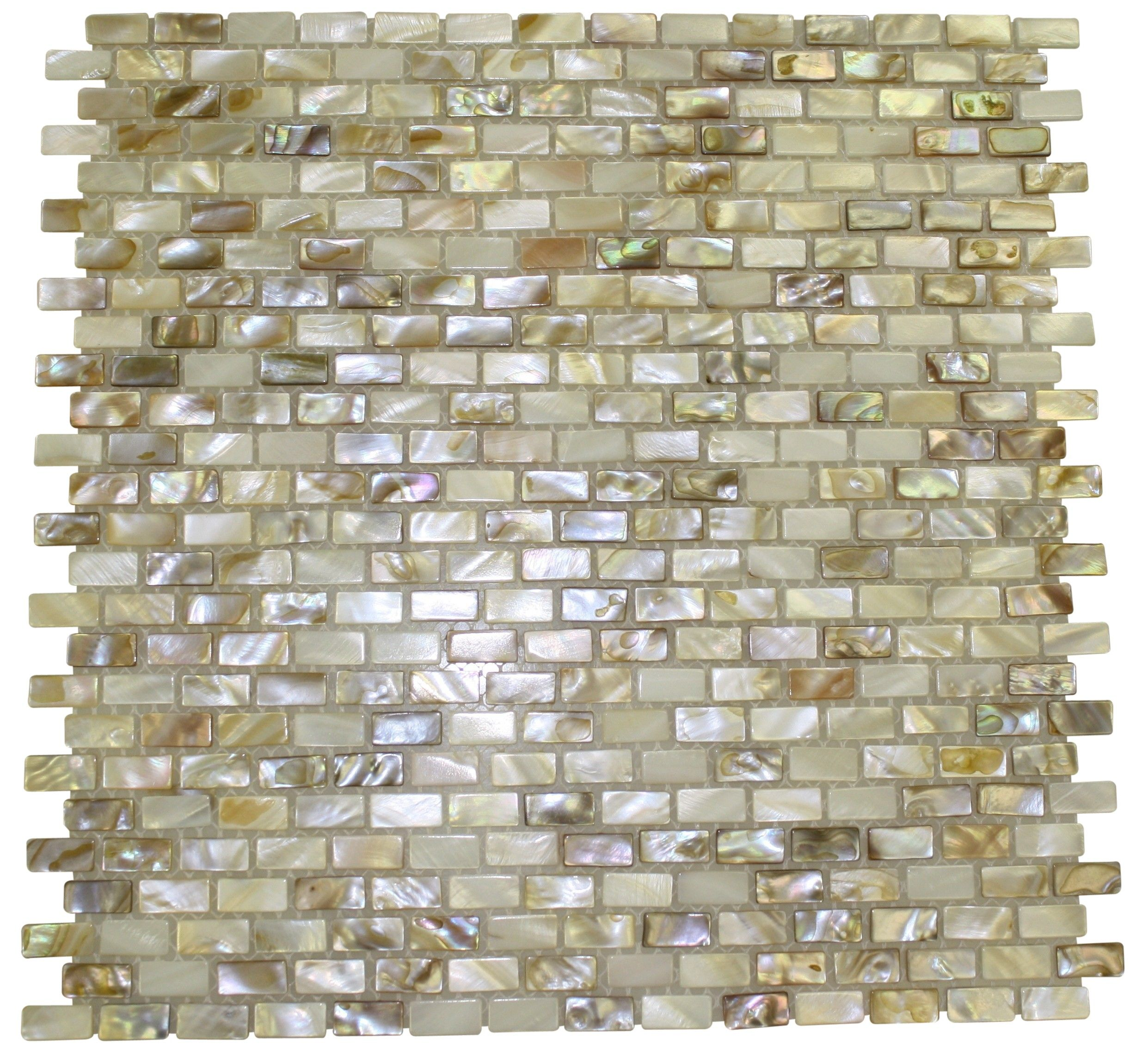 South Sea Pearls Mini Brick Pattern Tile 16 99 New House Ideas Pinterest S And Kitchen Back Splashes