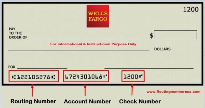 how can i see my checking account number wells fargo