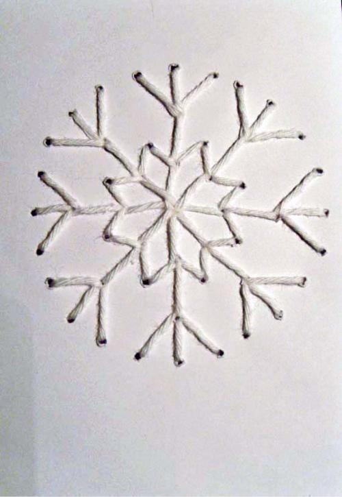 gestickte weihnachtskarten diy karten weihnachten. Black Bedroom Furniture Sets. Home Design Ideas