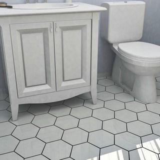 Overstock Com Online Shopping Bedding Furniture Electronics Jewelry Clothing More Porcelain Flooring White Hexagon Tiles Flooring