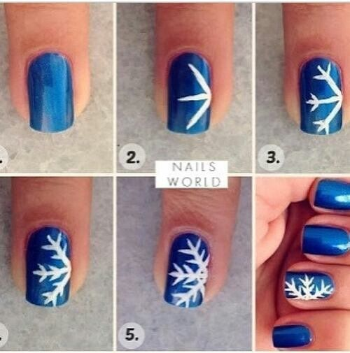 nail art noel flocon