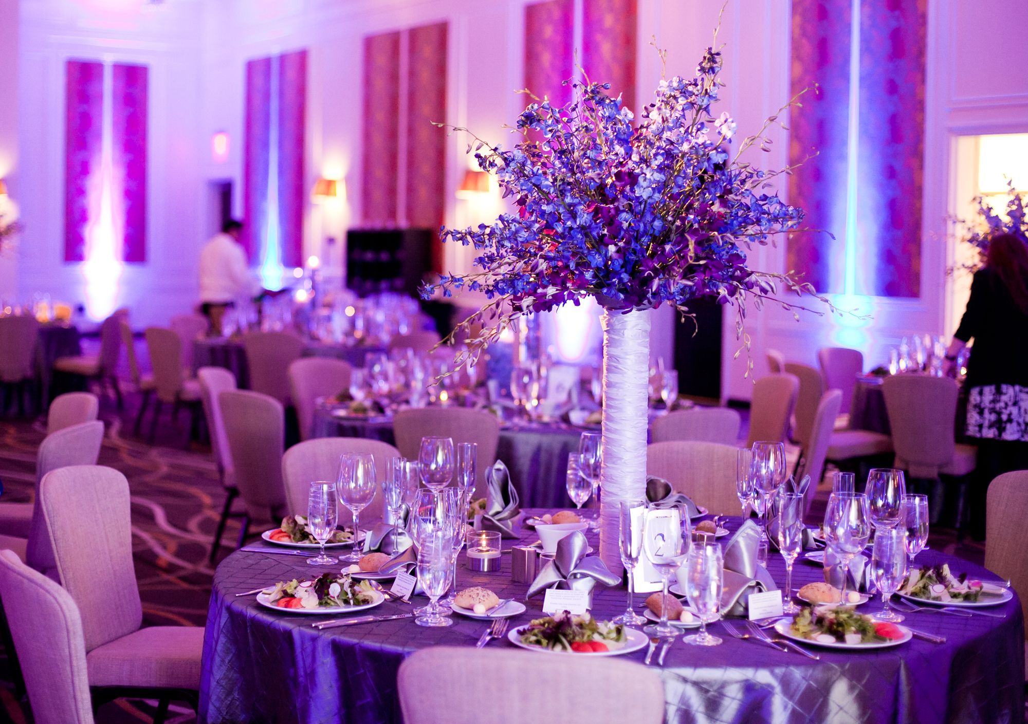 Purple And Blue Wedding Modern At The Hutton Hotelbrocade Designs