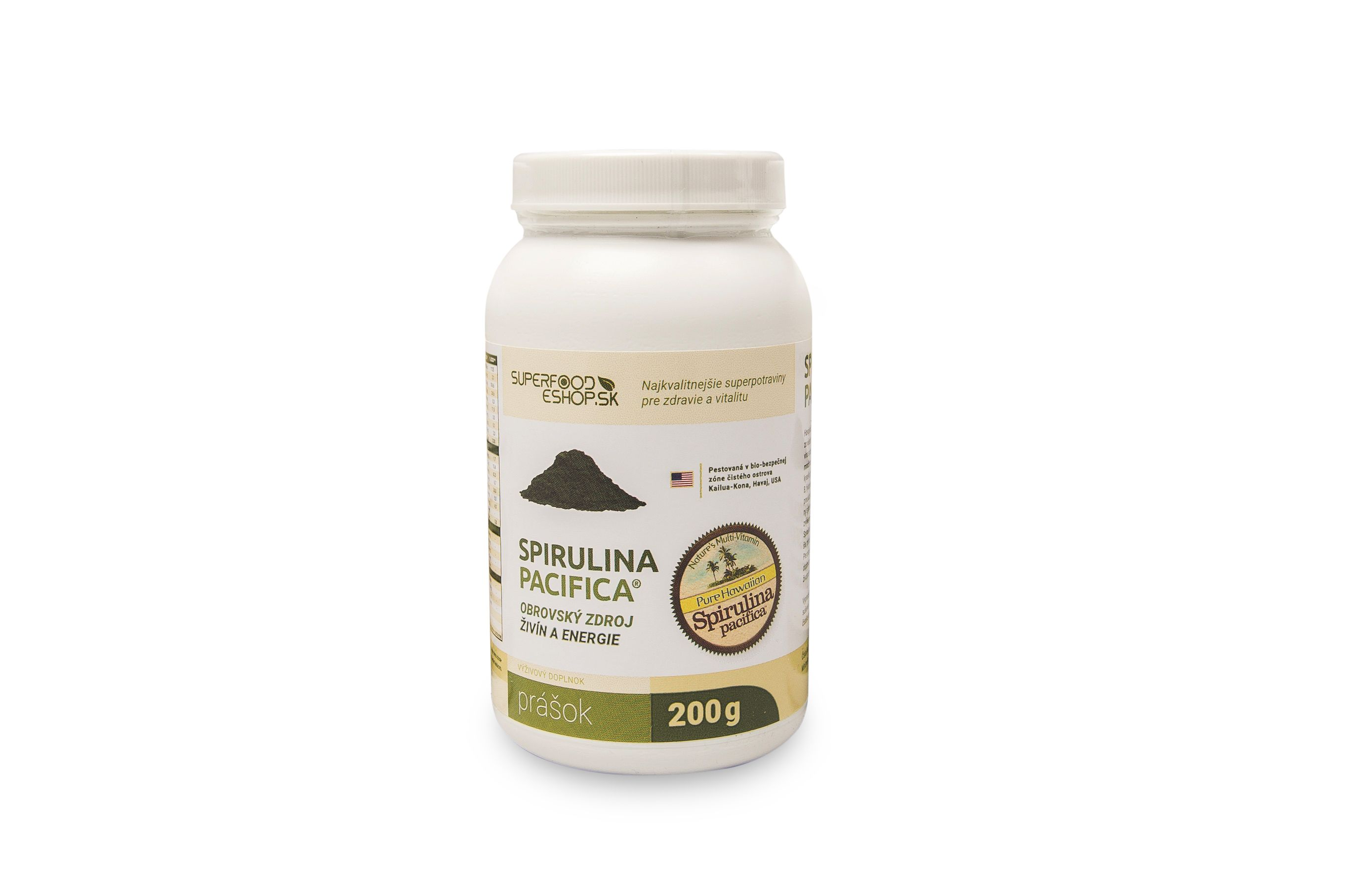 Our 200g Powder of Spirulina Pacifica Hawaii - available now :)  We ship to all EU, please order via mail at  info@superfood-eshop.eu