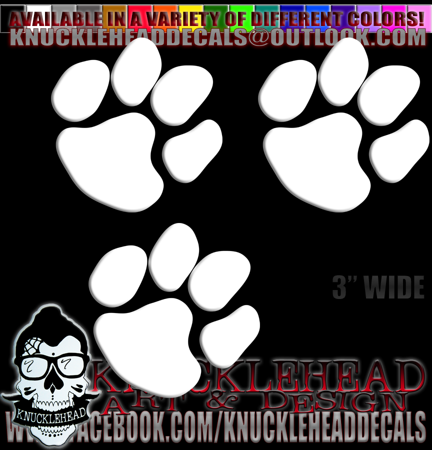 PAW PRINT DECALS, STICKERS, LICENSE PLATE FRAMES, T-SHIRTS OR ...