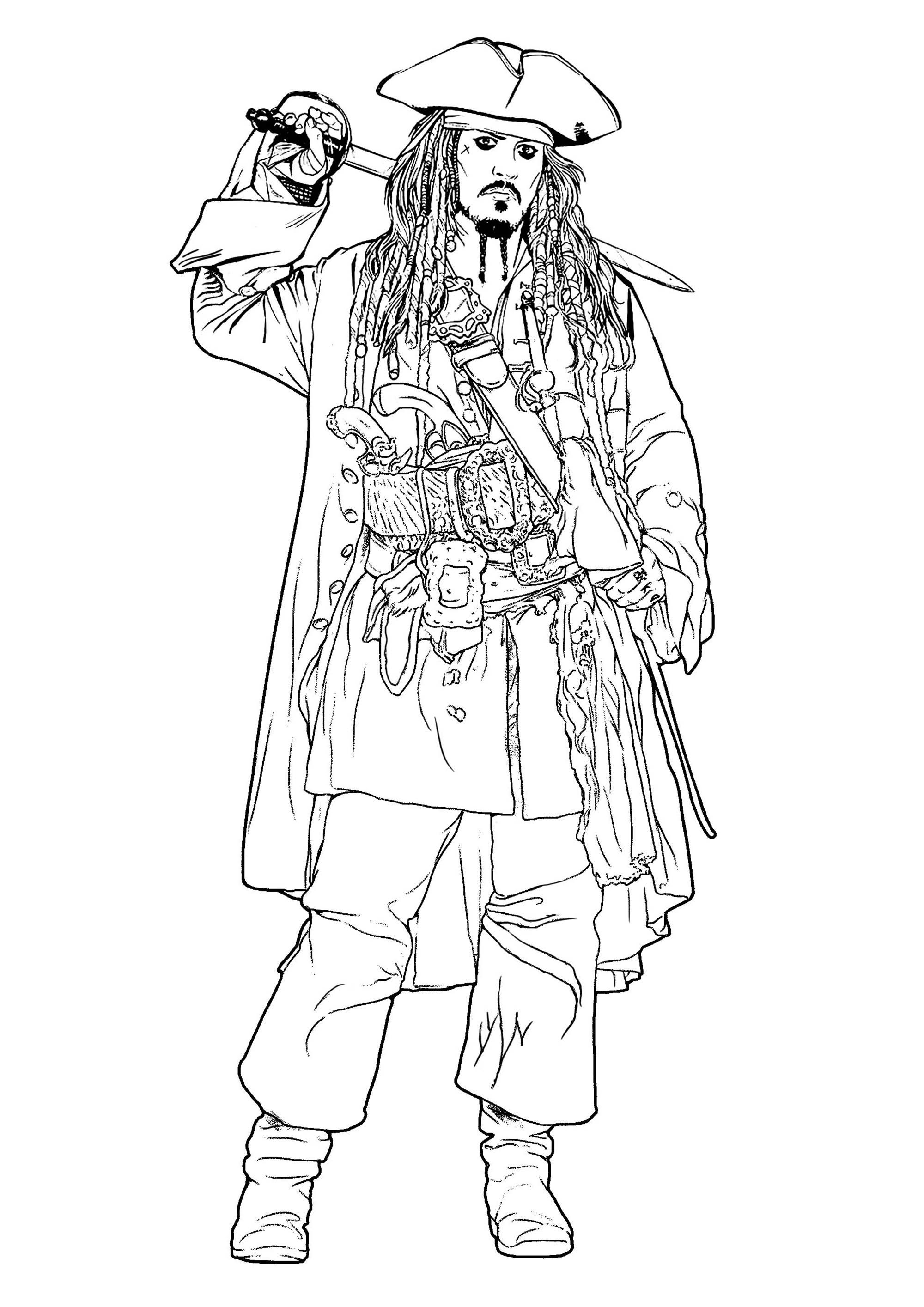 Jack Sparrow Movies Coloring Pages For Adults Just Color With