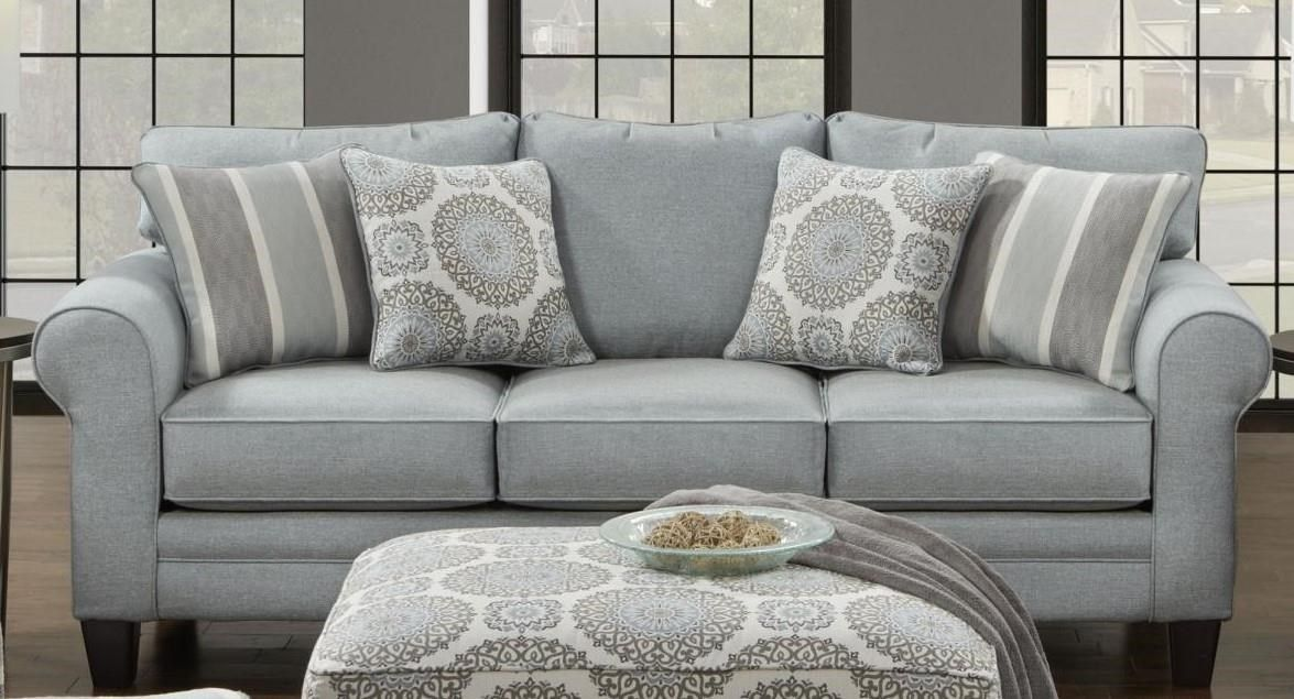 Fusion Furniture 1140 Grande Mist Sofa In 2019 Furniture