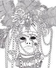 R sultat de recherche d 39 images pour masque carnaval mandala masque adult coloring book - Mandala carnaval ...
