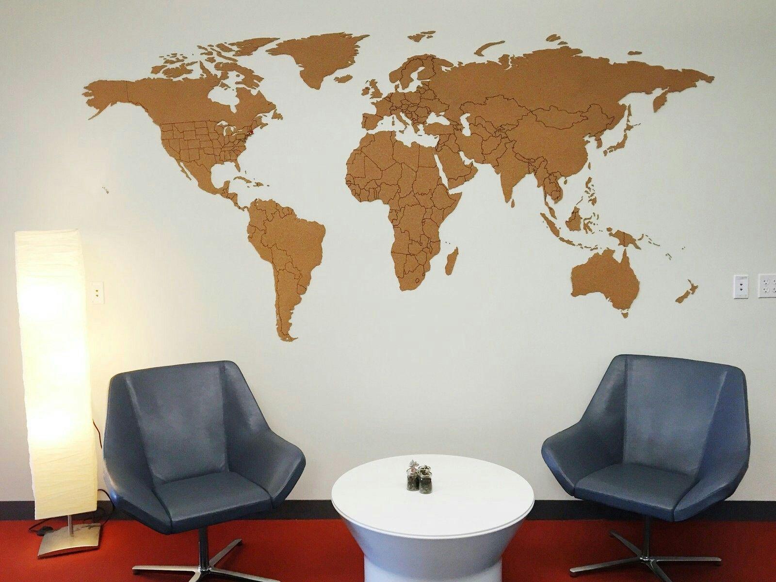 Corkboard world map taylor back entry pinterest corkboard world map gumiabroncs Images