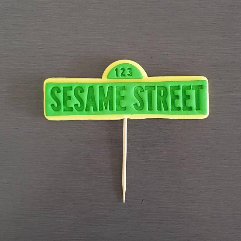 sesame street cake topper figurines