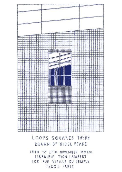 Nigel Peake - Loops Squares There (poster)