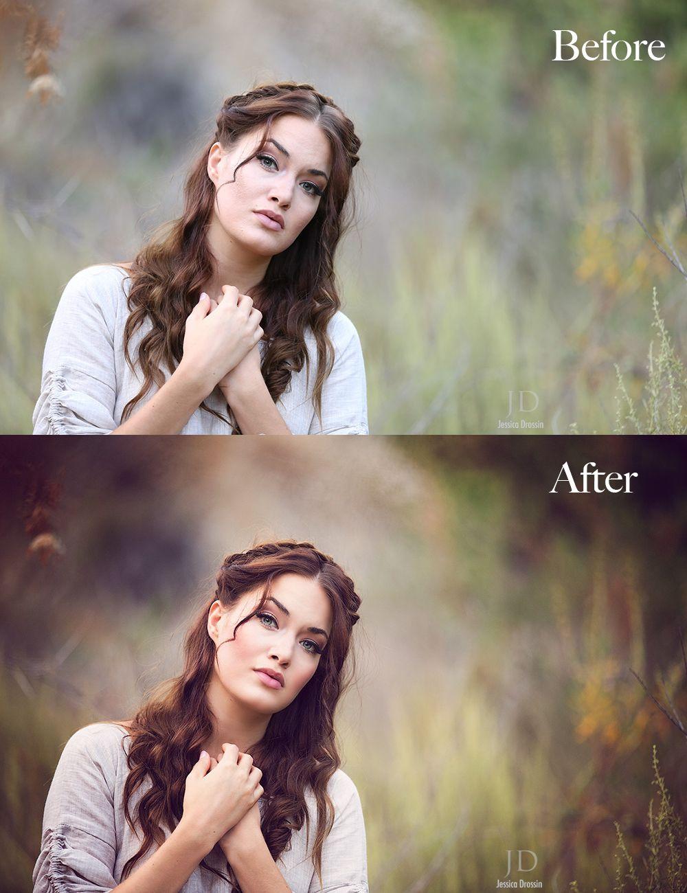 Portrait photography editing