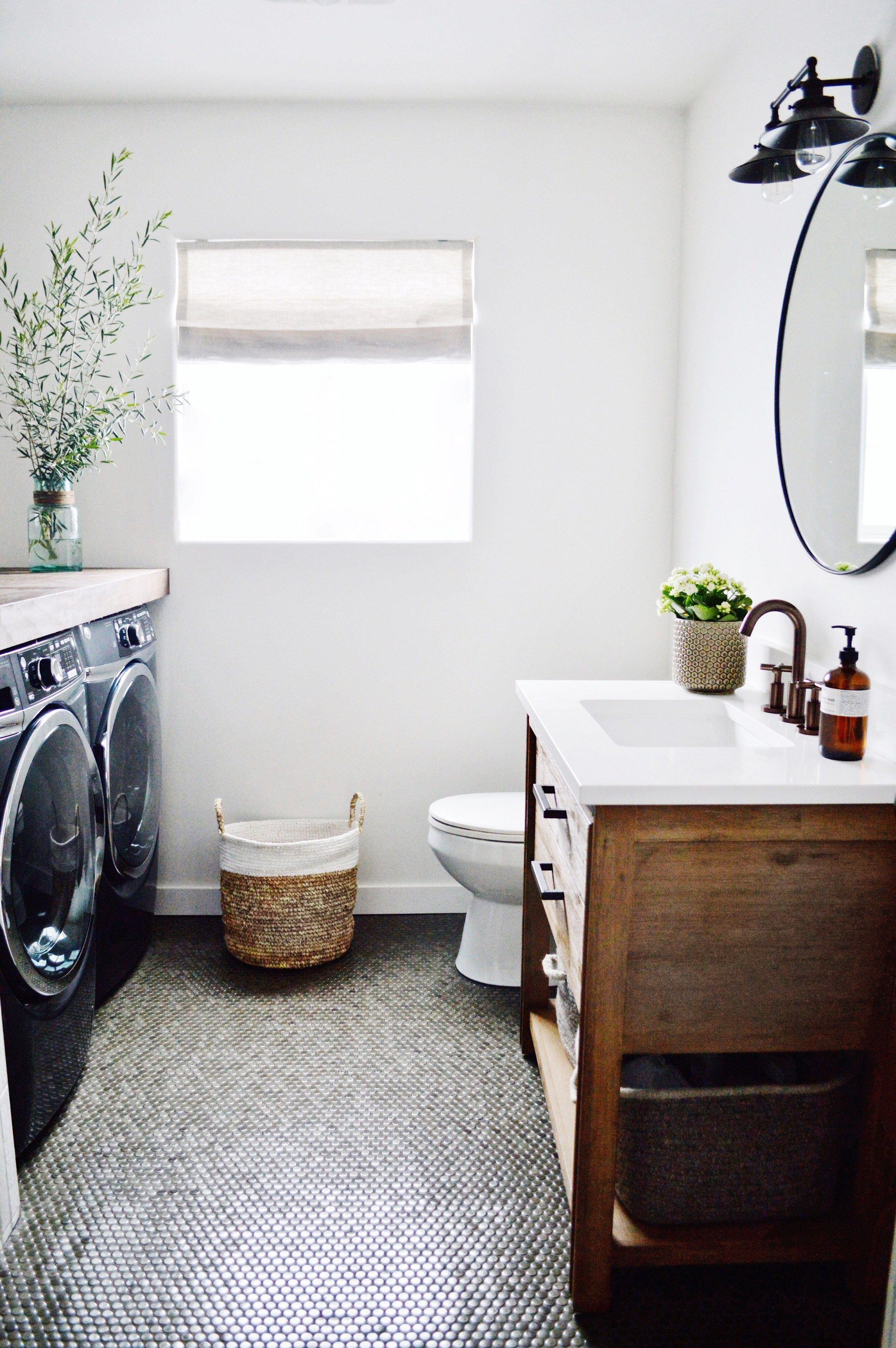 guest bathroom/laundry reveal – Kristin Dion Design