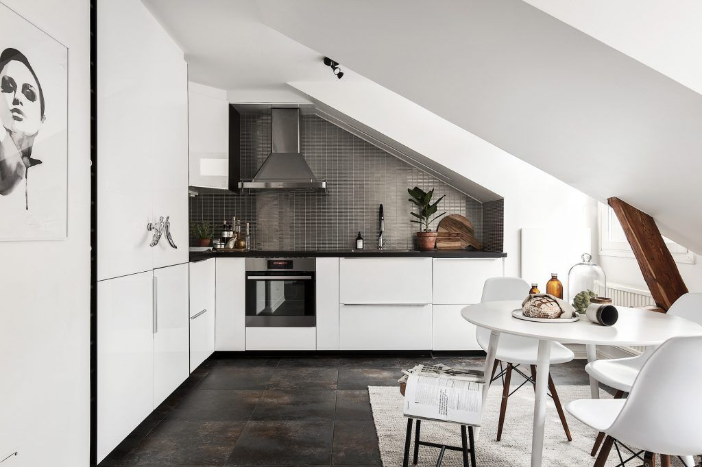 scandinavian attic apartment   home   Pinterest   Attic, Scandi ...