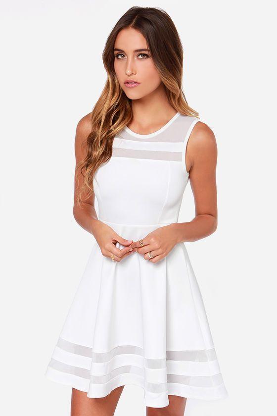 7be56947ff80 Final Stretch Ivory Dress